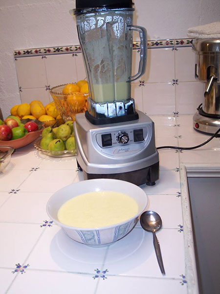 Image of Corn Soup made with Optimum Blender