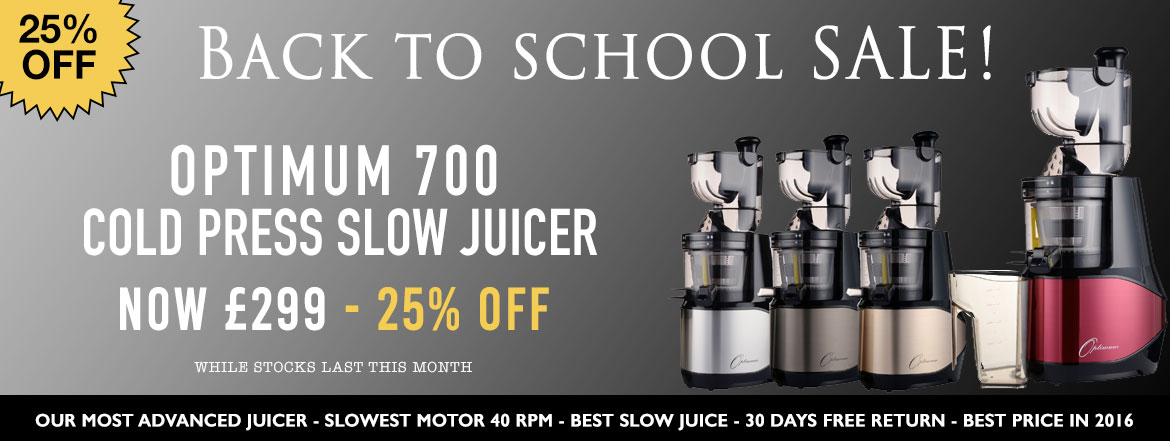 Cold Press Juicers :: OPTIMUM 700 ADvANCED COLD PRESS JUICER THE ULTIMATE SLOW JUICER COLLECTION