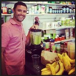 "Hello to Chris from @freohealth all the way over in Western Australia! Looks like he's whipping up a delish #greensmoothie there in his health food store ""Freemantle Health Foods"""