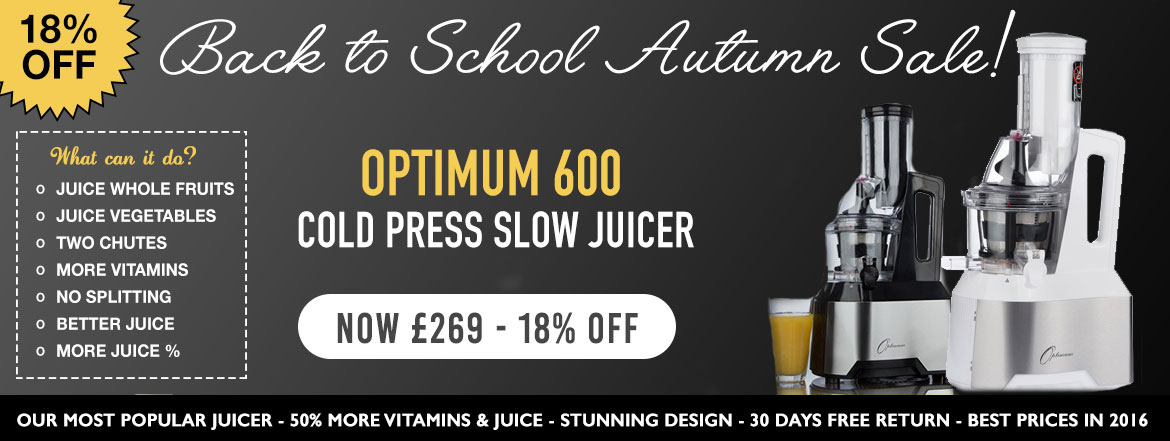 Slow Juicer Vs Nutribullet : Cold Press Juicers :: Optimum 600: Our Best Selling Slow Cold Press Juicer